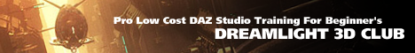 Pro Low Cost DAZ Studio Training For Beginner's - Dreamlight 3D Club
